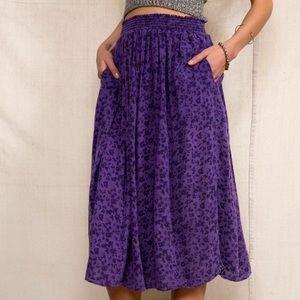 NWOT UO Urban Renewal Purple floral midi skirt